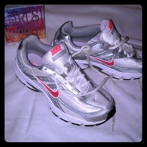 Pink & Silver Nike size 6